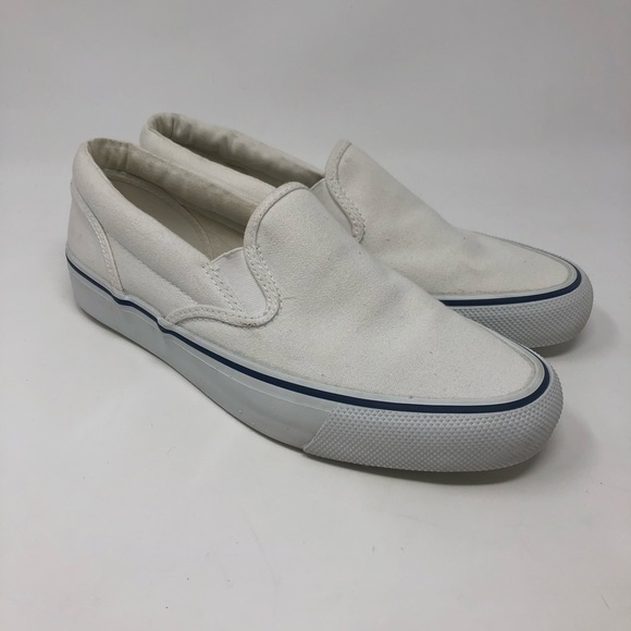 Sperry Shoes | Top Side White Slip On